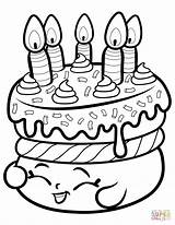 Coloring Cake Shopkin Wishes Printable Paper Colorings Dot sketch template