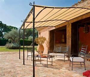 beautiful pergola en fer forge pour terrasse images With canisse pour pergola exterieur 5 pergola terrasse design bois noir et blanc