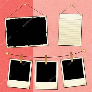 Polaroid Templates Scrapbook Template Stock Vector Joeiera 8923651