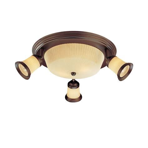 hton bay 4 light antique bronze semi flush mount