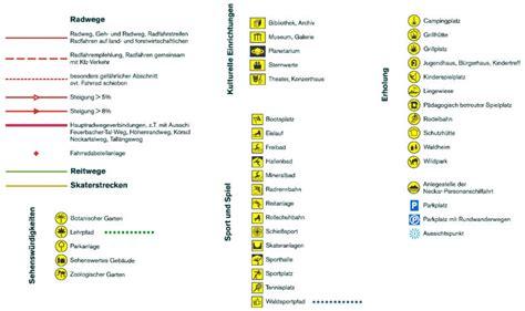 Zeichenerklärung by Stadtplan Freizeitplan