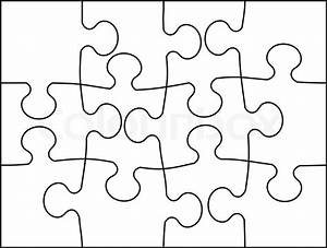 Vector illustration of puzzle mosaic background Stock