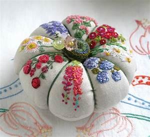 Fiberluscious  Flowers On Linen