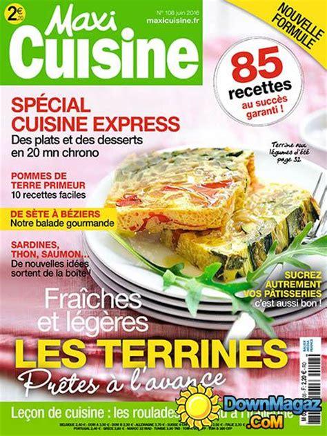 maxi cuisine magazine maxi cuisine juin 2016 no 108 pdf