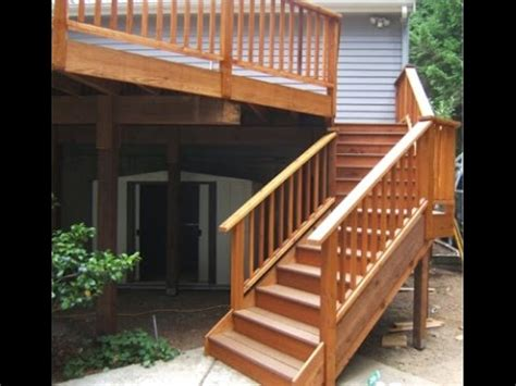 Porch Stair Handrail by Deck Stair Railing How To How To Install Deck Stair