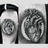 Anatomical Heart Tattoo Black And White | 600 x 498 jpeg 87kB