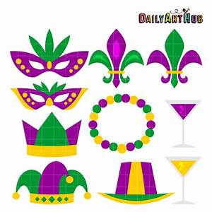 Mardi gras clip art set daily art hub - Cliparting.com