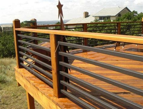 Horizontal Deck Railing Plans by 25 Best Ideas About Metal Deck Railing On