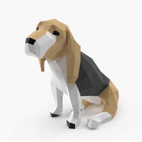 paper dog obj