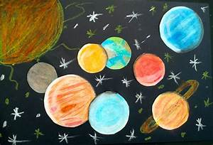 Oil Pastel Solar Systems (5th) - Art with Mrs. Nguyen