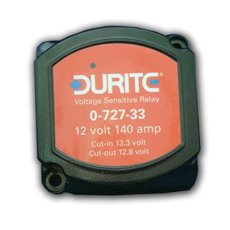 durite voltage sensitive relay vsr 12v 140a for dual battery systems 0 727 33