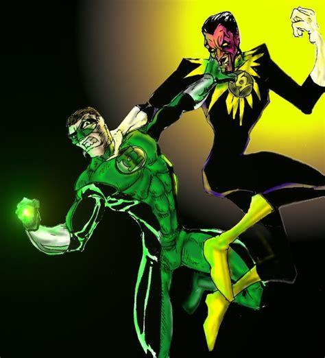 green lantern vs sinestro 2 by ramonvillalobos on deviantart