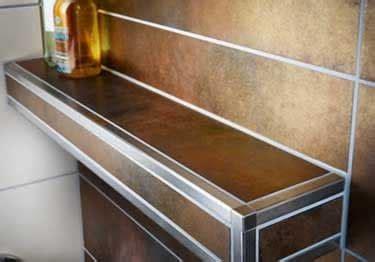 stainless steel countertop edging schluter 174 quadec wall countertop stainless steel edging 5716