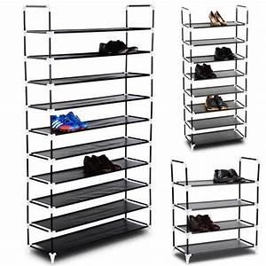 Rangement De Chaussures : tag re chaussures avec 10 niveaux de rangement pour 20 ~ Dode.kayakingforconservation.com Idées de Décoration