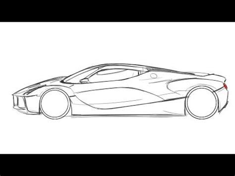 ferrari sketch view como dibujar un ferrari how to draw a ferrari youtube