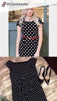 Black & White polka dot dress 👗   White polka dot dress ...