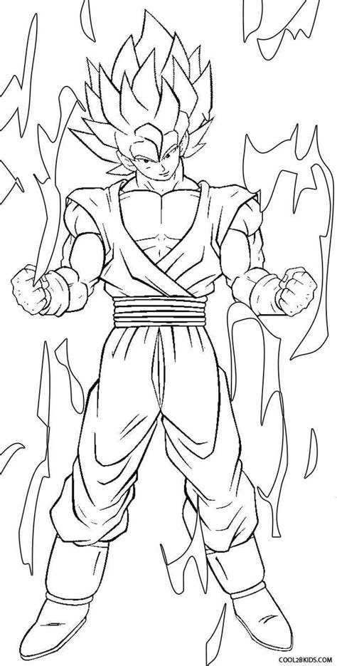 printable goku coloring pages  kids coolbkids cartoon coloring pages coloring pages