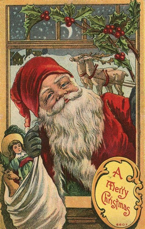dataviz  art  vintage santa claus post cards