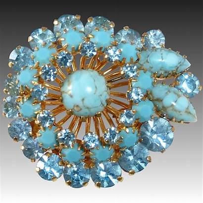 Glass Turquoise Rhinestone Opaque Gold Background Bejewelled