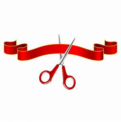 Ribbon Scissors Vector Cutting Clip Opening Ceremony