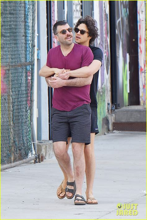 zachary quinto twin brother zachary quinto boyfriend miles mcmillan cozy up in nyc