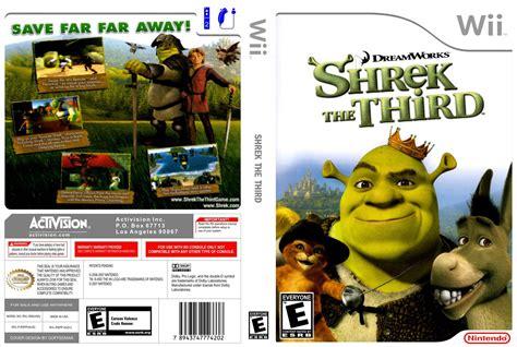 Shrek The Third Nintendo Wii Game Covers Shrek The