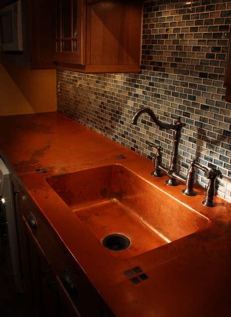 richmond va copper concrete countertop