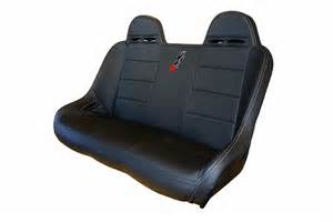 Bench Bucket Seats by Dragonfire Racing Rear Bucket Bench Seat For Polaris Rzr