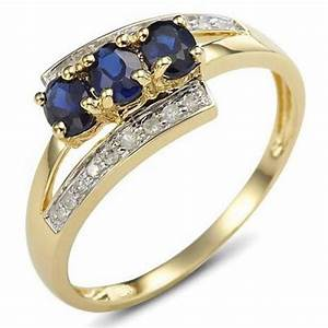 size 6789 bridal blue sapphire 18k gold filled womens With women s plus size wedding rings