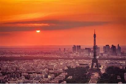 Paris Eiffel Cities Sunset France Host Olympic