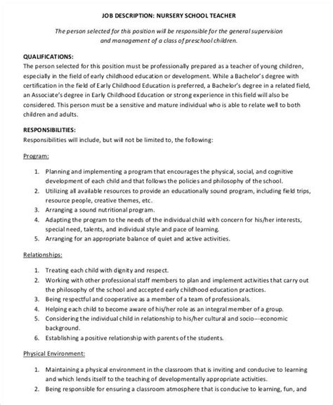 job description for preschool director in nursery thenurseries 624