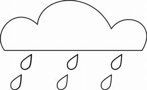 Rain Cloud Outline Clip Art at Clker.com - vector clip art ...