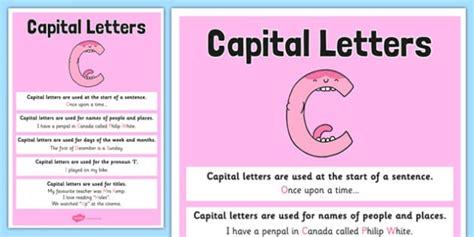 capital letter poster grammar spag gaps punctuation