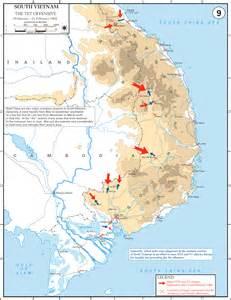 Tet Offensive 1968 Map
