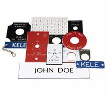 labels custom engraved phenolic labels kele With electrical panel phenolic labels