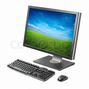 Pc Monitor Auf Rechnung : computer arbeitsstation monitor tastatur maus isoliert ~ Haus.voiturepedia.club Haus und Dekorationen