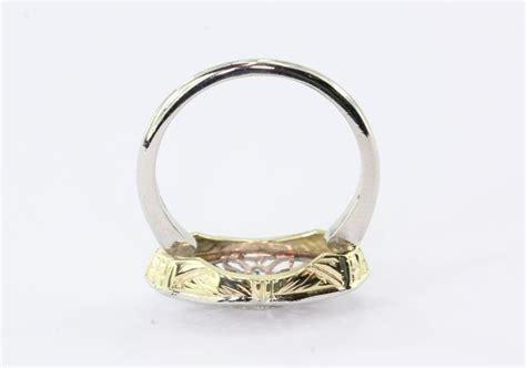 deco platinum mine cut conversion ring at