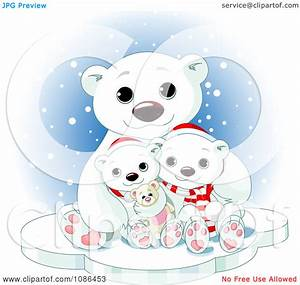 Cute Polar Bear Christmas Clipart - Clipart Kid