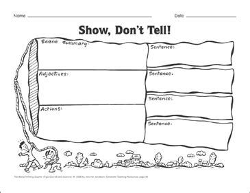 Show Don T Tell Worksheet - Sanfranciscolife