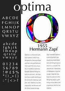 Type Poster: Optima Type poster for Optima font. Original ...
