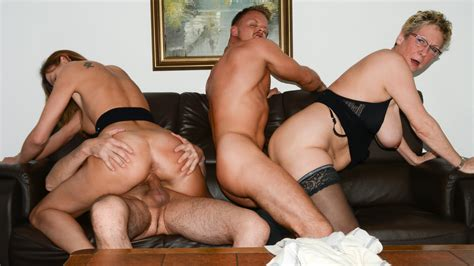 reife swinger mature german foursome with two horny