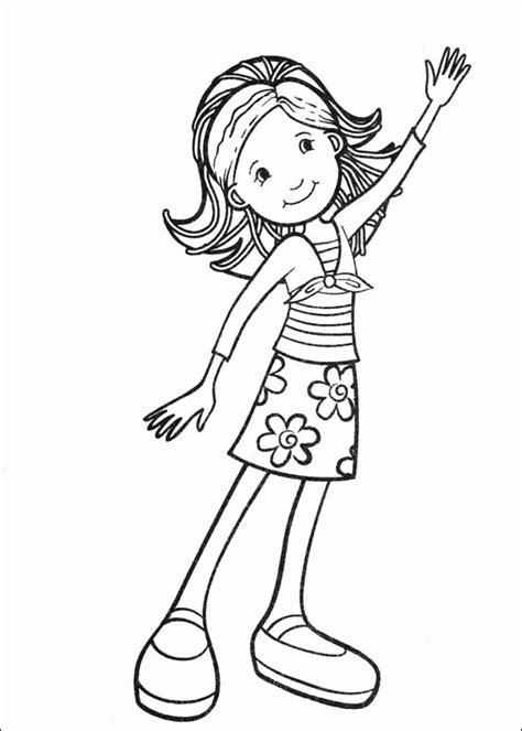 Imprime gratuitement les albums de dessins en dessin facile fille bff dessin facile epingle par lea sur best friend dessin fille dessin noir et epingle sur resimler 1001 images pour le dessin fille. Coloriage Une belle Fille te salue dessin gratuit à imprimer