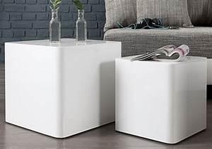 Beistelltisch Set Weiß : design beistelltisch monolit weiss 2er set dunord design ~ Frokenaadalensverden.com Haus und Dekorationen