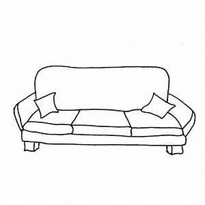 Couch Clipart Black And White - Home Design Jobs