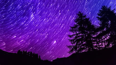 Star Trails Time Lapse Galaxy Stock Footage Video 100