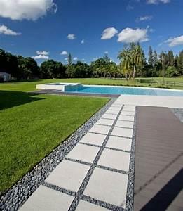 piscine exterieure encastree 68 idees de design magnifique With eclairage allee de jardin 7 terrasse piscine et jardin exotique dans une maison design