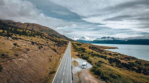 christchurch  queenstown drive  zealands  road trip