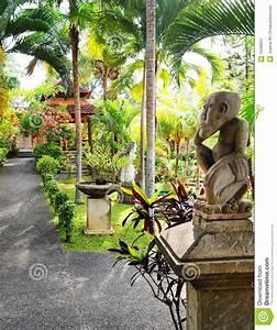 Balinese Garden Landscaping Stock Image - Image: 13369637