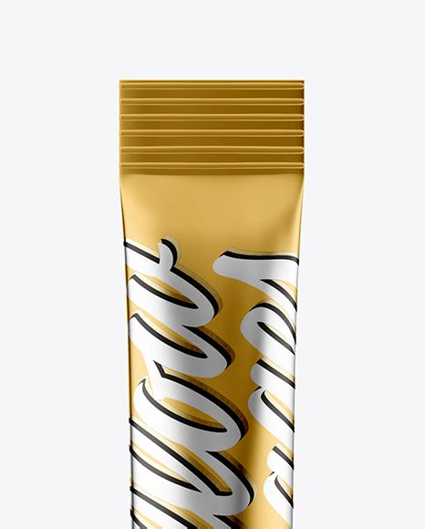 Free for personal and commercial use zip file includes: Download Metallic Stick Sachet Mockup Half Side View High ...