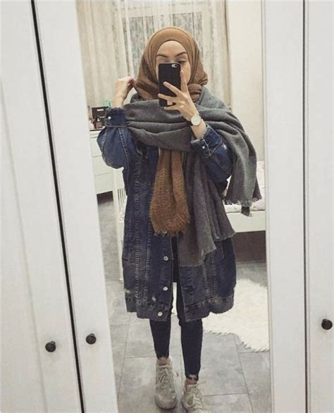 outfit ideas  wear winter hijab style  pinterest